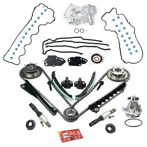 Triton Timing Chain Kit Oil Water Pump Phasers Vvt Valves For 5 4l Ford Lincoln