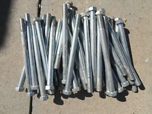 Lot Of 160 Galvanized Lag Bolts 6 5