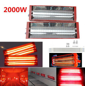 2kw 2 Set Car Truck Spray Baking Booth Infrared Paint Curing Lamp Heating Light