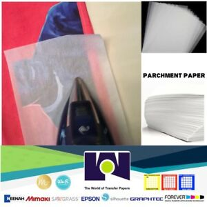 Silicone Parchment Paper For Heat Transfer Applications 8 5 x11 300 Sheets pk