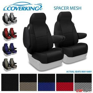 Coverking Spacer Mesh Front Custom Seat Covers For 2013 14 Ford E150 E250 E350