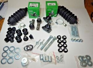 New Deluxe Front Suspension Kit Triumph Tr6 Tr250 Tr4a Balljoint Tierod Rackboot