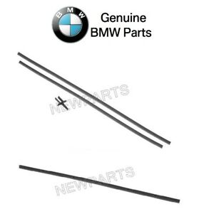 For Bmw E53 X5 2000 06 Pair Set Of Front Rear Wiper Blade Insert Sets Genuine