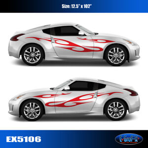 5106 Tribal Flame Body Vinyl Graphics Decals Car Truck High Quality Egraf X