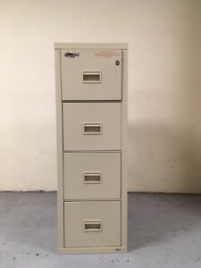 Gently Used Fireking Turtle 4 drawer Insulated Fireproof Filing Cabinet