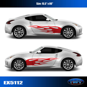 5112 Flame Body Vinyl Graphics Decals Car Truck Sticker High Quality Egraf X