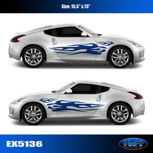 5136 Flame Vinyl Graphics Body Decals Car Truck Sticker High Quality Egraf X