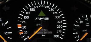 Sicker Amg For Mercedes Tacho W123 W124 W126 Instrument Cluster Sticker Decal