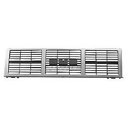 Front Grille Silver For 1985 1988 Gmc C1500 K2500 Gm1200401