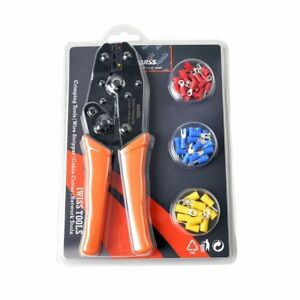 Iwiss Iws 30j Ratcheting Wire Terminal Crimper With Free Terminals Crimping Tool