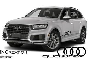 Audi Q7 Q9 Quattro Factory Style Door Vinyl Stickers Decals Racing Emblem Logos