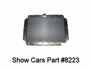 59 60 61 62 63 Chevy 409 Aluminum Radiator Notched For 500 605 Power Steering
