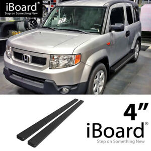 Running Board Side Step Nerf Bars 4in Black Fit Honda Element 03 11