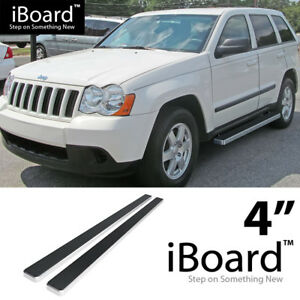 Running Board Side Step Nerf Bars 4in Silver Fit Jeep Grand Cherokee 05 10