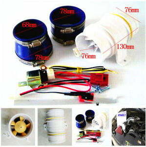 1 Set Electric Turbines Turbocharger Supercharger For Car Engine More Efficient