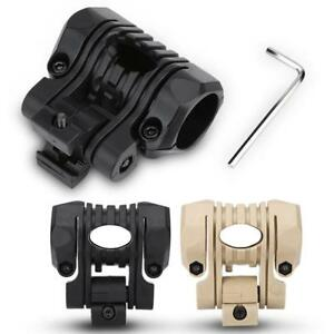 Tactical Clip Mount Adapter Helmet Military Airsoft Flashlight Clamp W Wrench
