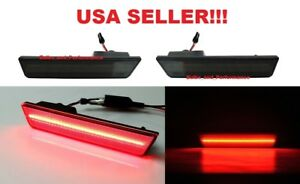2011 2012 2013 2014 Dodge Charger Smoked Lens Red Led Rear Side Marker Light Set