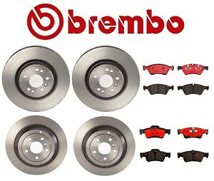 New Mercedes W164 Ml320 Front And Rear Disc Brake Rotor And Pads Brembo Kit