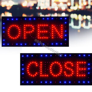 Usa 2 In1 Bright Led Open closed Store Shop Business Sign 9 8 18 9 Display Neon