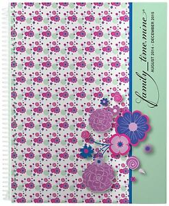 2014 15 Mom Planner Agenda 8 5x11 Inches Family_time mine petites Fleurs