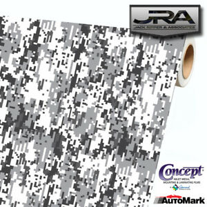 Urban Snow Digital Camouflage Vinyl Car Wrap Camo Film Decal Sheet Roll