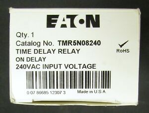 Eaton Tmr5n08240 Time Delay Relay Timer 6 60 Second 240vac