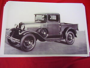 1930 1931 Ford Model A Pick Up Steel Cab 11 X 17 Photo Picture
