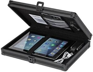 Vaultz Tactical Black Locking Storage Aluminum Clipboard Hard Solid Briefcase