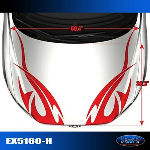 5160 H Tribal Hood Vinyl Graphics Decals Car Truck Tuner High Quality Egraf X