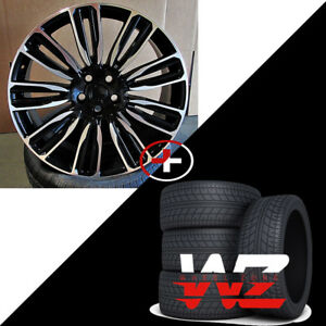 22 Velar Style Wheels Tires Black Machined Fits Range Land Rover Envoque 5x108