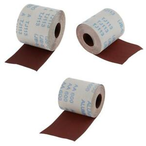 120 320 600 Grit 4 x10m Emery Cloth Abrasive Paper Sanding Roll Metalworking