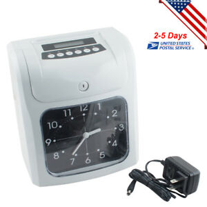 Employee Punch Machine Time Clock Recorder Weekly Bi weekly Monthly Pay Ending