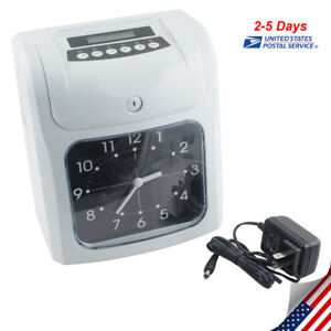 Electronic Employee Attendance Punch Time Clock Payroll Recorder Analog Clock Us