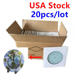 Us Stock 20pcs Sublimation Blank Glass Photo Frame With Glossy Round Clock