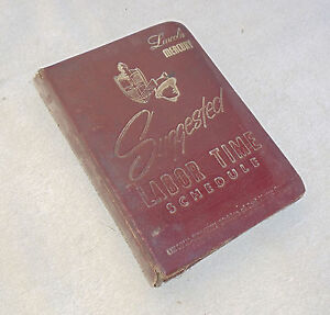 1952 1953 1954 Lincoln Mercury Orig Time Schedule Manual Leatherette Cover