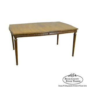 Davis Cabinet Co Solid Walnut French Louis Xvi Style Dining Table