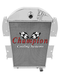 1934 1936 Chevy Truck 3 Row Jamn Champion Radiator V8 Conversion