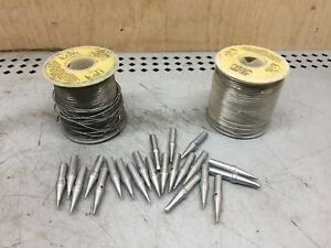 Lot Of 21 Weller Soldering Tips Etc Etp Eta For Models Wec24 ec1201 Nos Wire