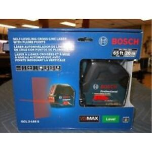Bosch Gcl 2 160 Self leveling Cross line Laser With Plumb Points