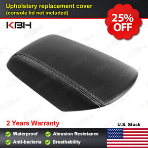 Fits 11 18 Ford Explorer Center Console Lid Armrest Synthetic Cover Gray Stitch