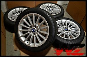2011 2013 18 X 8 Bmw 5 6 Series Silver Wheels A s Tires Oem 6775407 71409