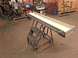 7 x 72 Dorner Series 2200 Belt Conveyor With Side Reails No Motor