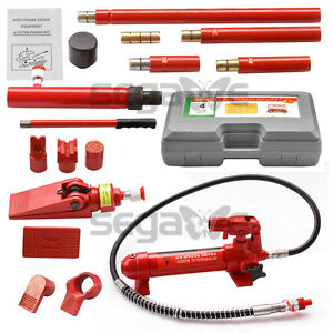4 Ton Porta Power Hydraulic Jack Body Frame Repair Kit Auto Shop Heavy Duty
