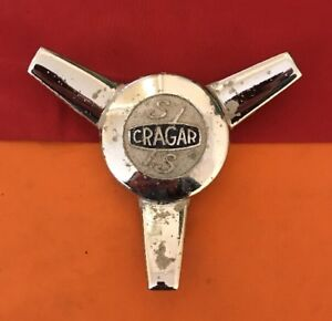 Cragar Classic Wheels S s Spinner Wheel Center Hub Cap Chrome Finish E2046 Used