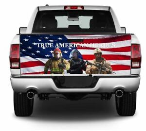 True American Heroes Truck Tailgate Vinyl Graphic Decal Wrap 358