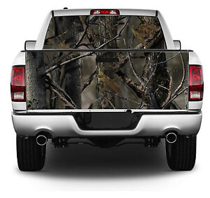Real Tree Truetimber Scene Wrap Rear Window Tailgate Graphics Decal Kit 005