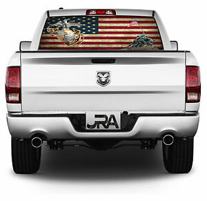 Us Marines Pick up Truck Rear Window Graphic Decal Perforated Vinyl 029