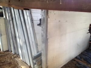 4 Reclaimed Combined Foam Insulation Metal Building Panels And Studs