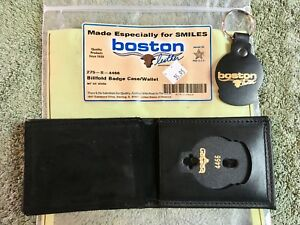 Boston Leather Billfold Wallet Badge Case 275 s 4466 3 1 4 X 4 1 4 Usa