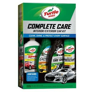 Complete Car Care Kit Turtle Wax Auto Detailing Clean Shine Wash Wipe Gift Pack